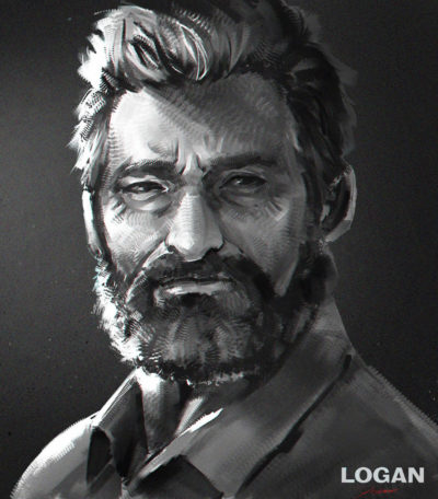 Painting process – Rogan(Wolverine)[Hugh Jackman ], Fish man ( Yu Ing )_01
