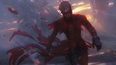 Vash The Stampede Vash 'The Stampede' in a wasteland expanse, Paul Nong_01