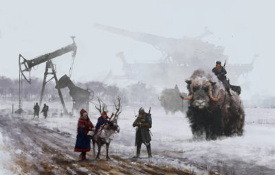 1920 – Dad's at work, Jakub Rozalski_01