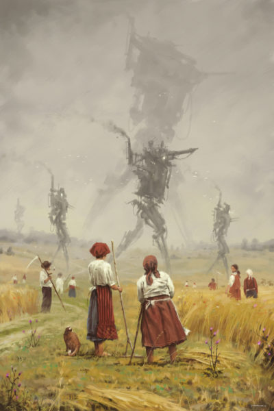 1920 – The march of the Iron Scarecrows, Jakub Rozalski_01