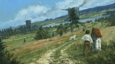 1920 – green fields, Jakub Rozalski_01