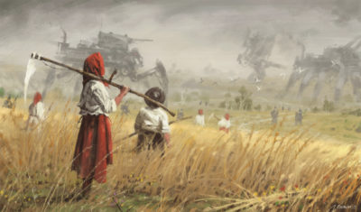1920 – guest from the west, Jakub Rozalski_01