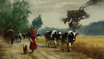1920 – on the road, Jakub Rozalski_01