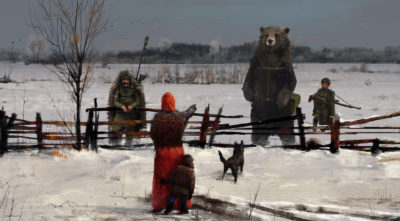 1920 – strange visitors, Jakub Rozalski_01