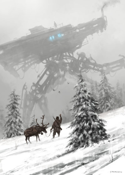1920 – winter walker, Jakub Rozalski_01