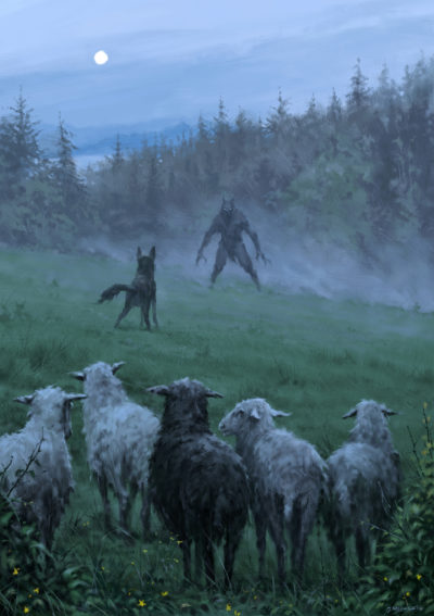 Shepherd and his faithful dog, Jakub Rozalski_01