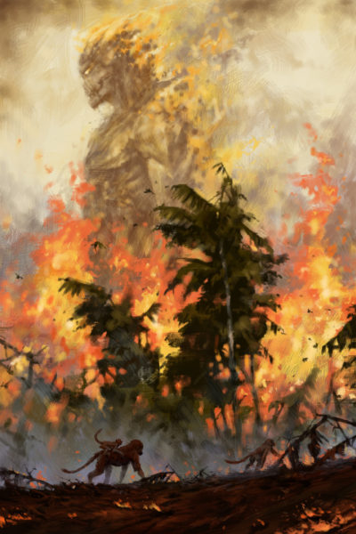 The fire demon of the rainforests, Jakub Rozalski_01