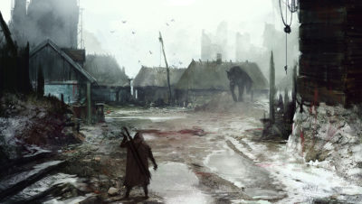 another day at work… meeting with Werewolf, Jakub Rozalski_01