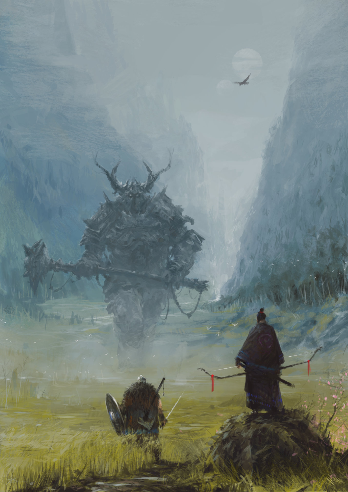 brothers in arms – meeting with a warlord, Jakub Rozalski_01