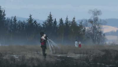 dark fairy godmother, Jakub Rozalski_01