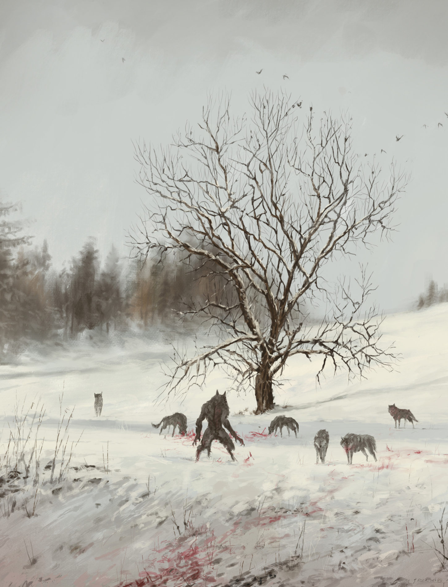 dinner in the open air, Jakub Rozalski_01