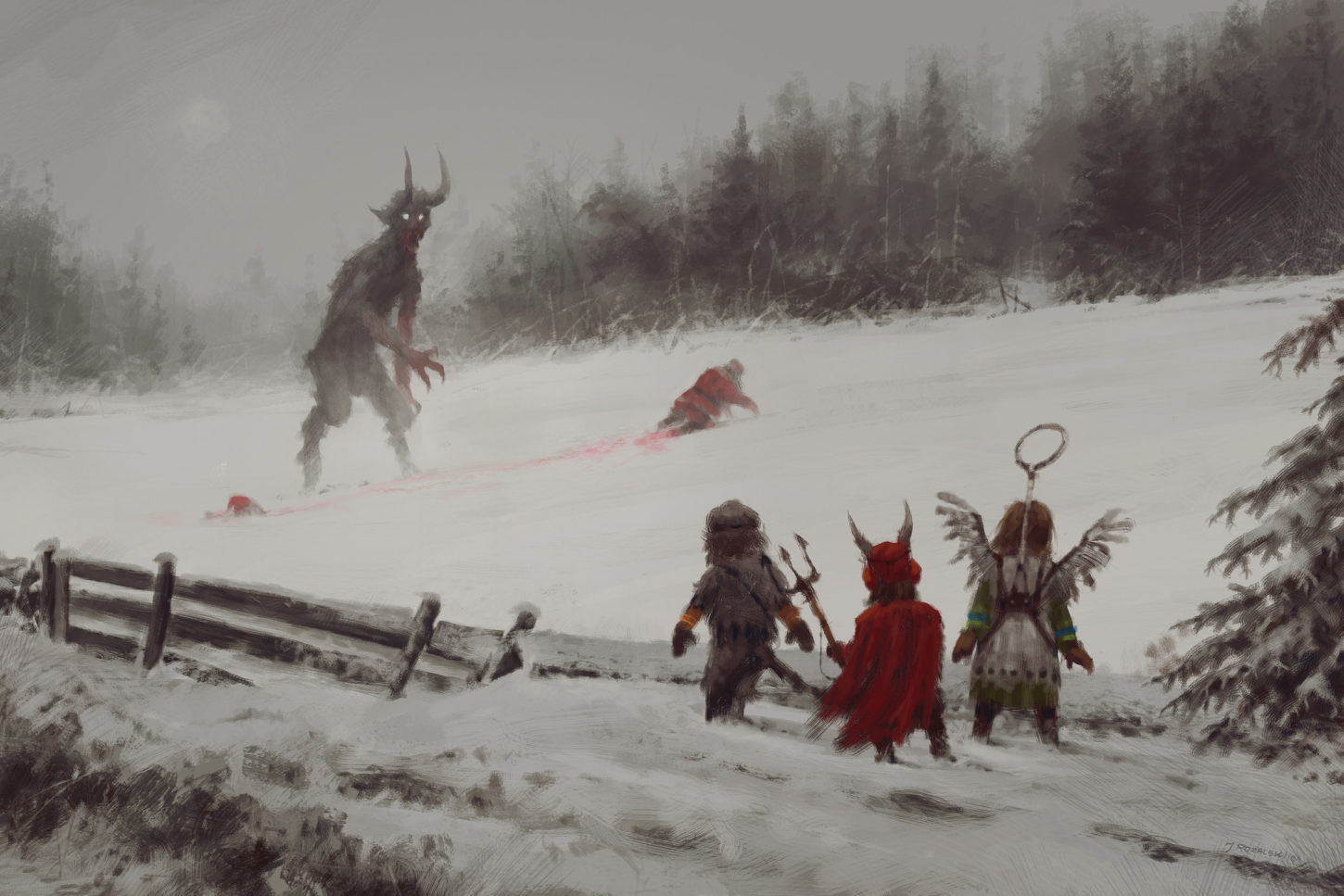 does it mean there will be no gifts this year , Jakub Rozalski_01