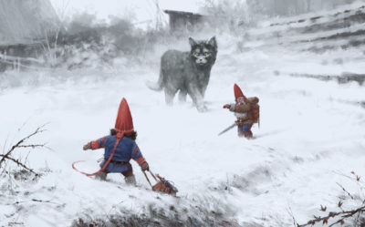 furry demon, Jakub Rozalski_01