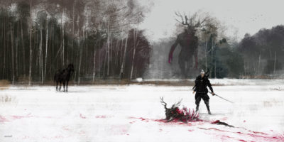 just another day at work… Leshy, Jakub Rozalski_01