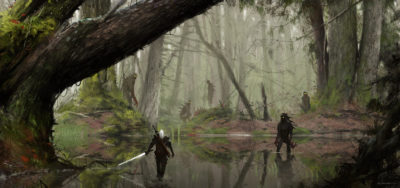 just another day at work… kelpie, Jakub Rozalski_01