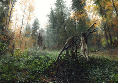 misty spring morning, Jakub Rozalski_01