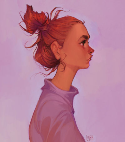 painted sketches 2017, Lois van Baarle_01