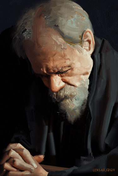 the old man portrait CG drawing from Alexander Borodin