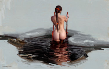 nude girl in the ice