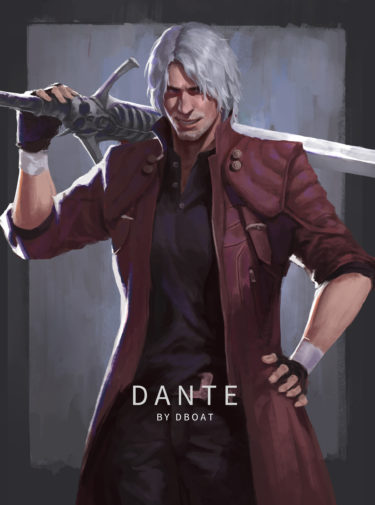 devil my cry character DANTE, drew by江帆 杨