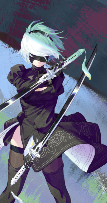 2B standing to fight