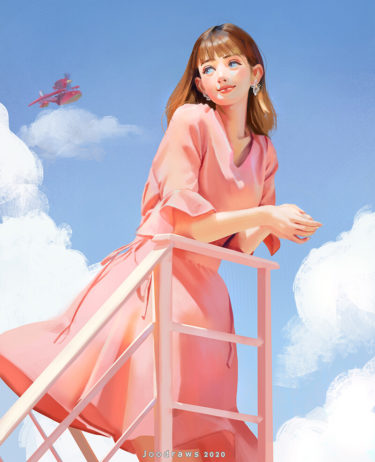 girl Between clouds, Jㅇㅇ d r a w s