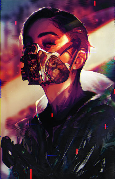 the cyber punk mask girl