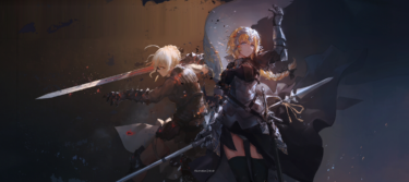 the sword and the armor…so imposing! Super awesome Fate fanart illustration