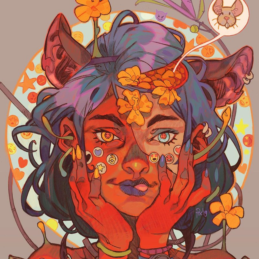 Bright and colorful illustration style