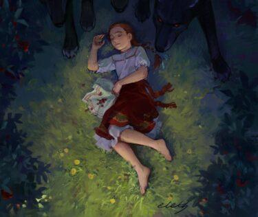 the sleeping girl in the forest