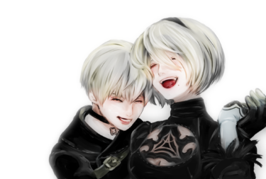 NieR, fanart 2b and 9s
