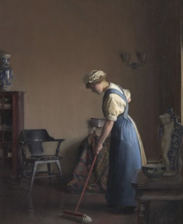 10_William-McGregor-Paxton-Girl-Sweeping-1912