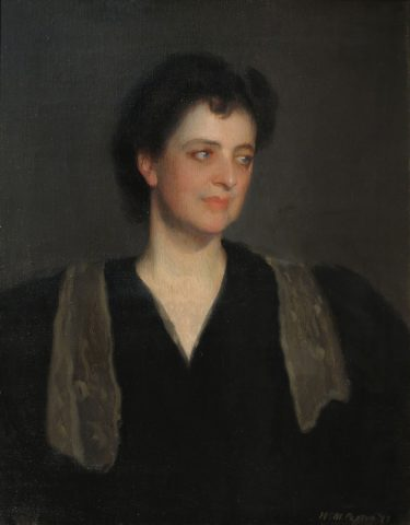 14_William-McGregor-Paxton-Portrait-of-a-Woman-in-Black-Mrs-Howard-Okie